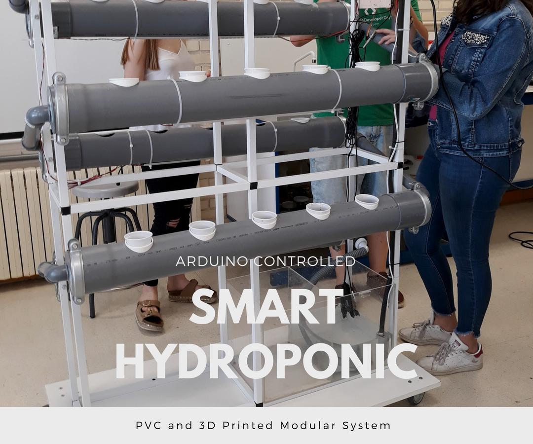Arduino Controlled Smart Hydroponic Modular System