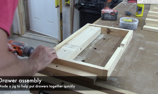 Assembled the Drawer Sides
