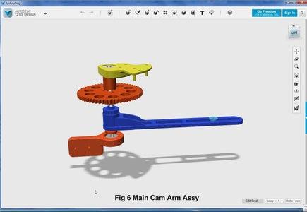 3D Parts Design - Main Cam Arm