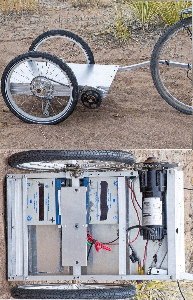 Greg's Electric Powered Bicycle Trailer