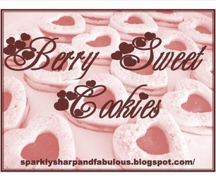 Berry Sweet Cookies    Perfect for Valentines Day!