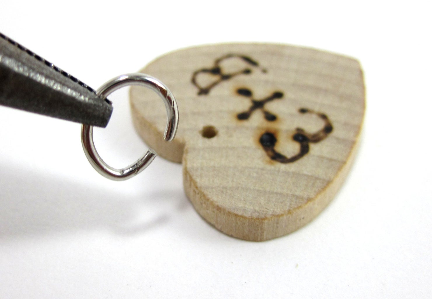 Attach Jump Rings to Hearts
