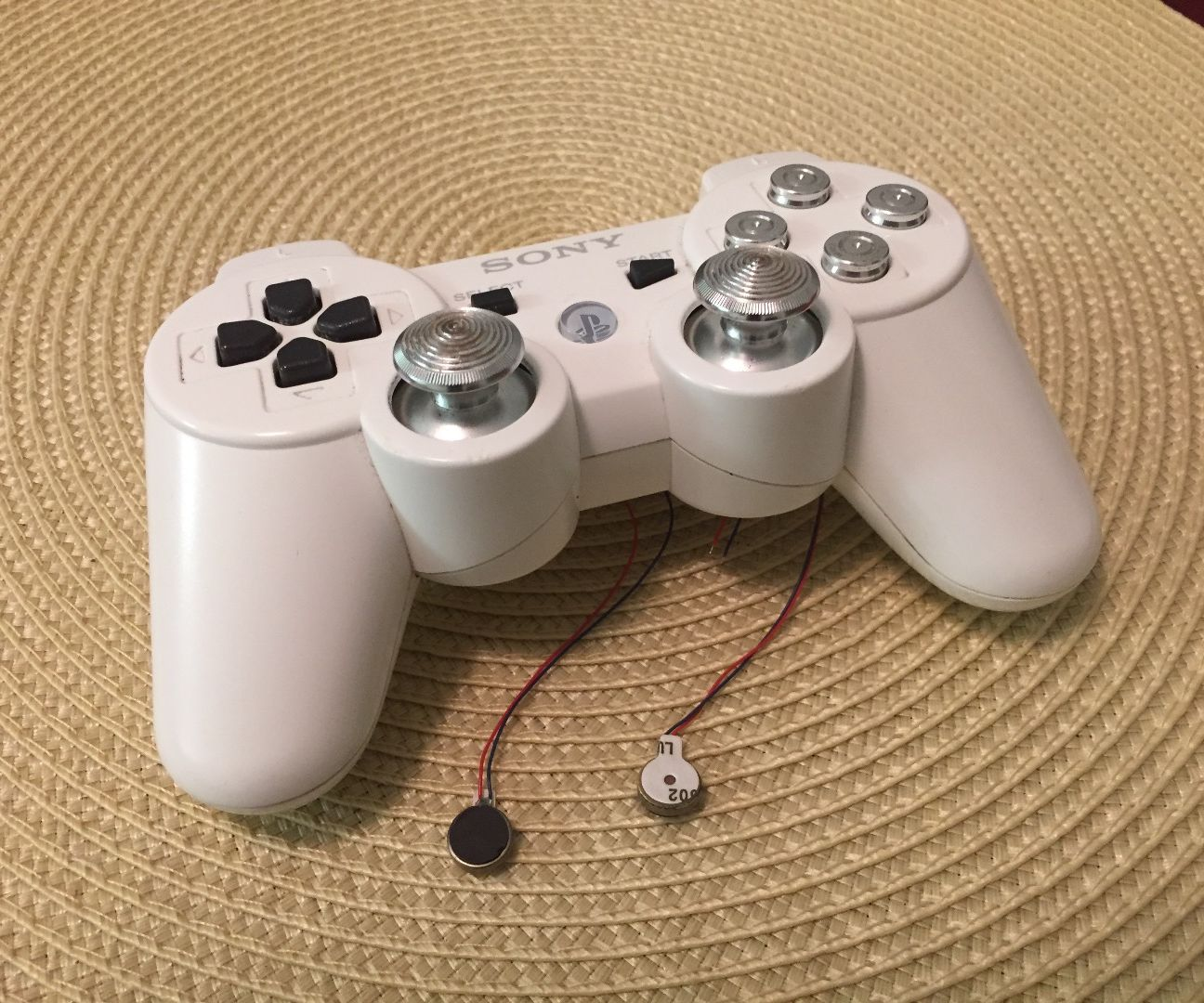 Vibration triggers on PlayStation 3 Controller