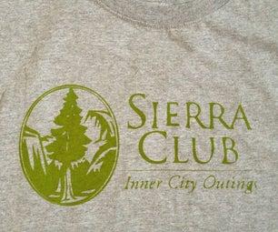 Using a Vinyl Stencil to Silk Screen a T-Shirt