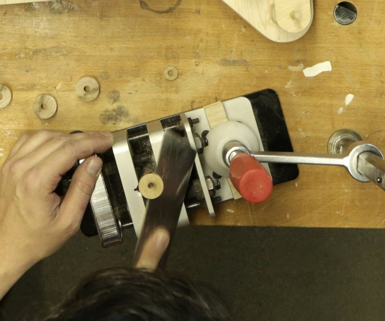 Cut and Bore the Dowels
