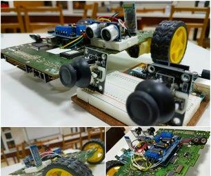 Roll-E [ Upcyled E-Waste Robot]