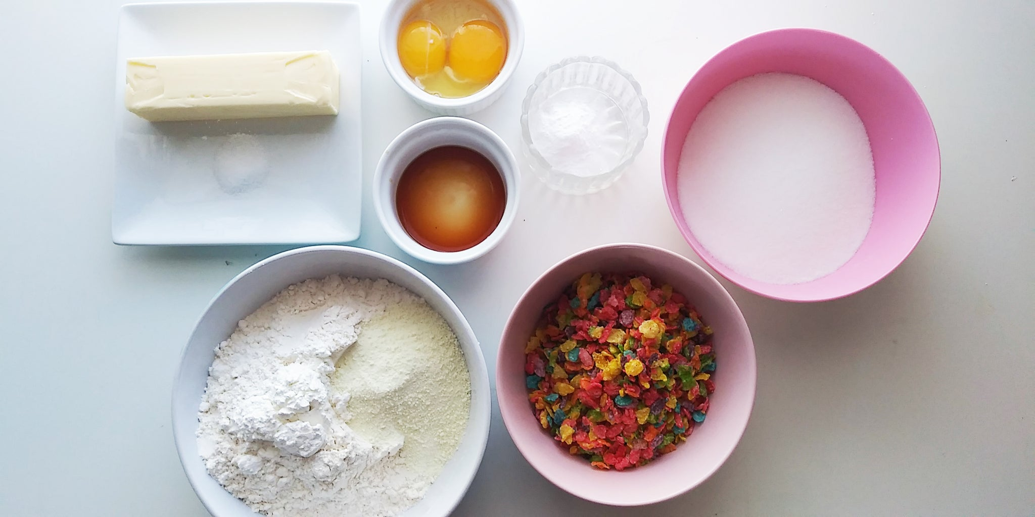 Ingredients for the Fruity Pebbles Cookie