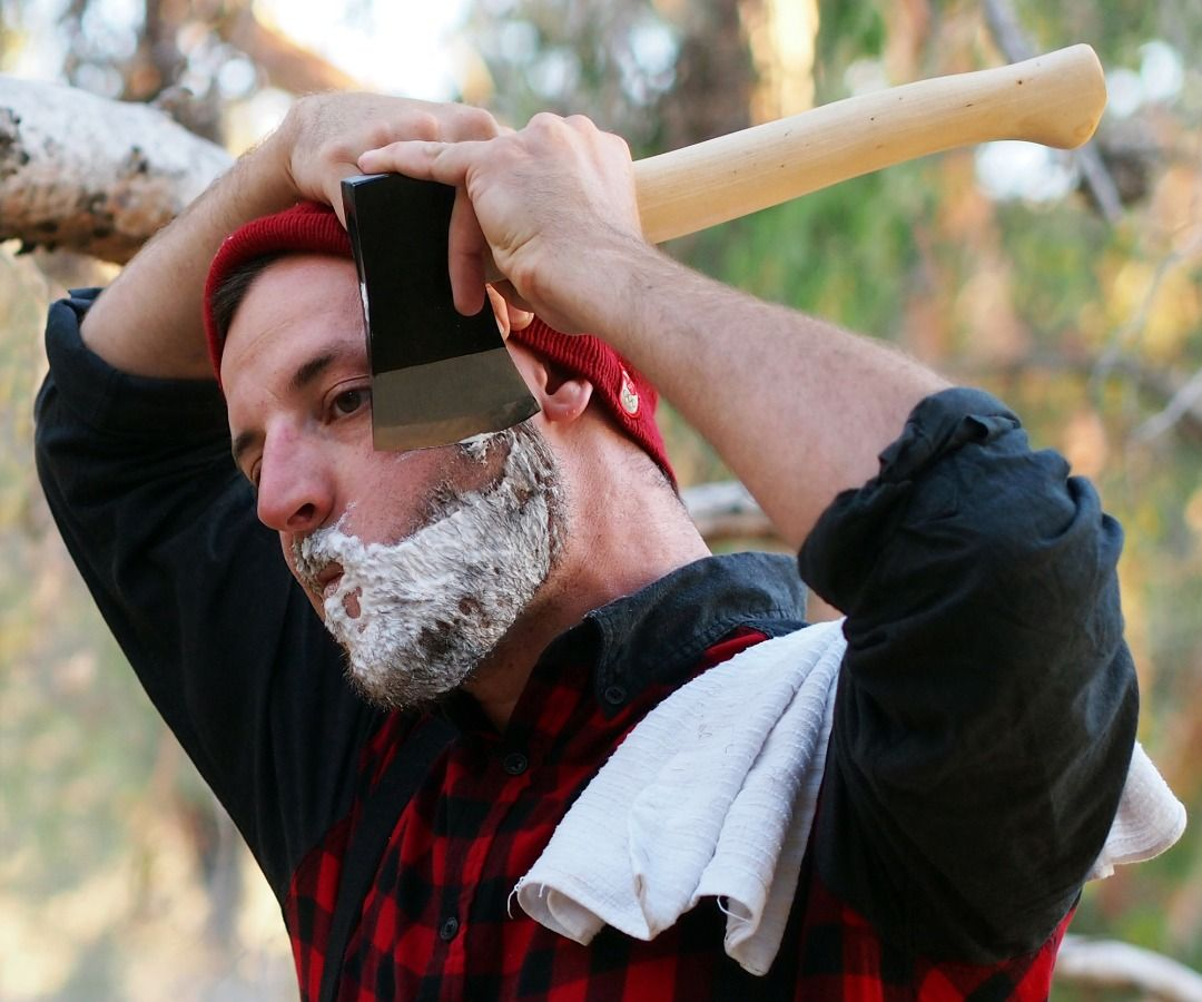 how to shave with an axe