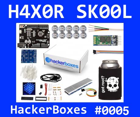 HackerBoxes 0005: LED Pixels, 2D Matrix, 4x4x4 Cube, and Bluetooth