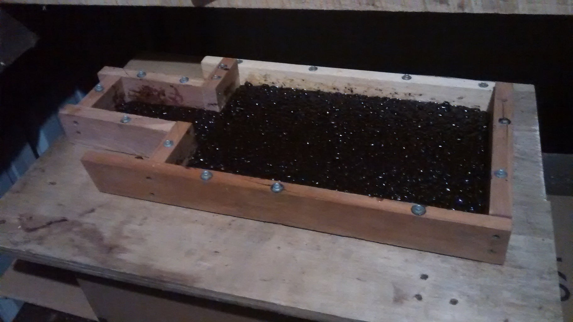 Mixing Epoxy With Coffee Beans