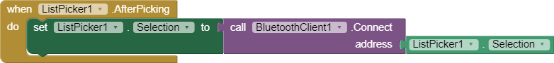 Bluetooth Andriod Code