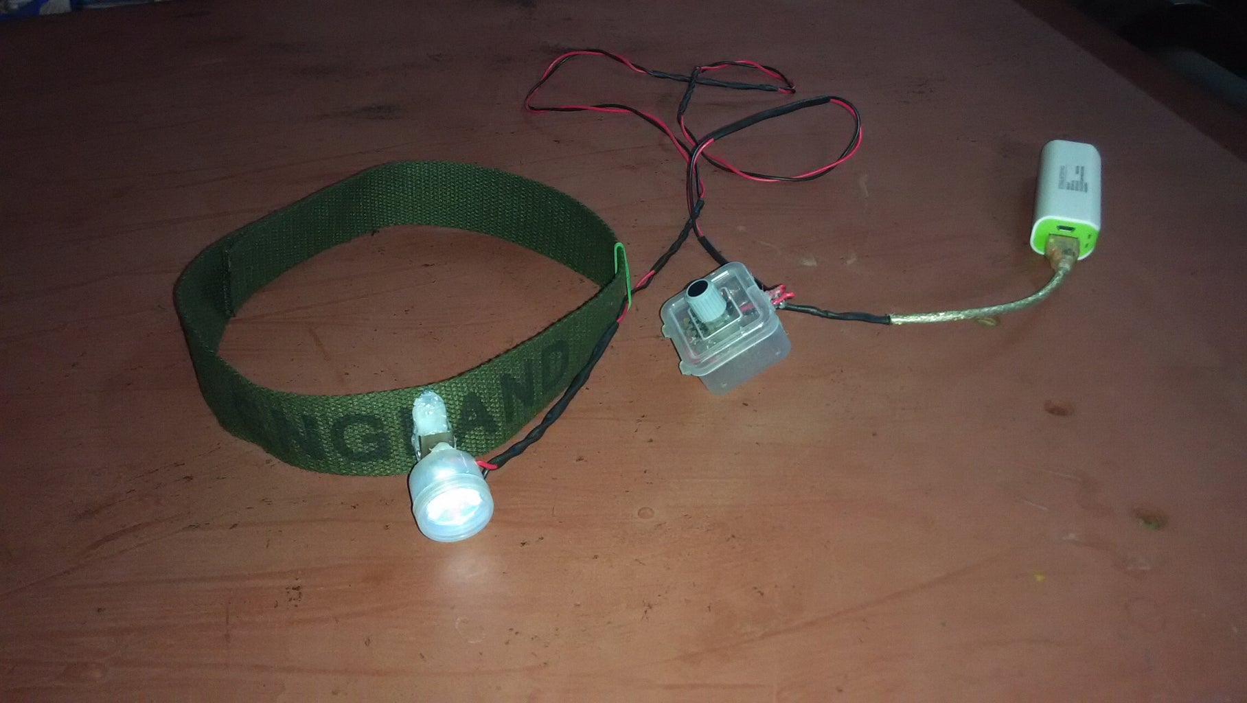 Make Your Own USB Rechargeable LED Headlight Torch