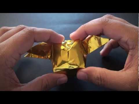 How to Make an Origami Harry Potter Golden Snitch!