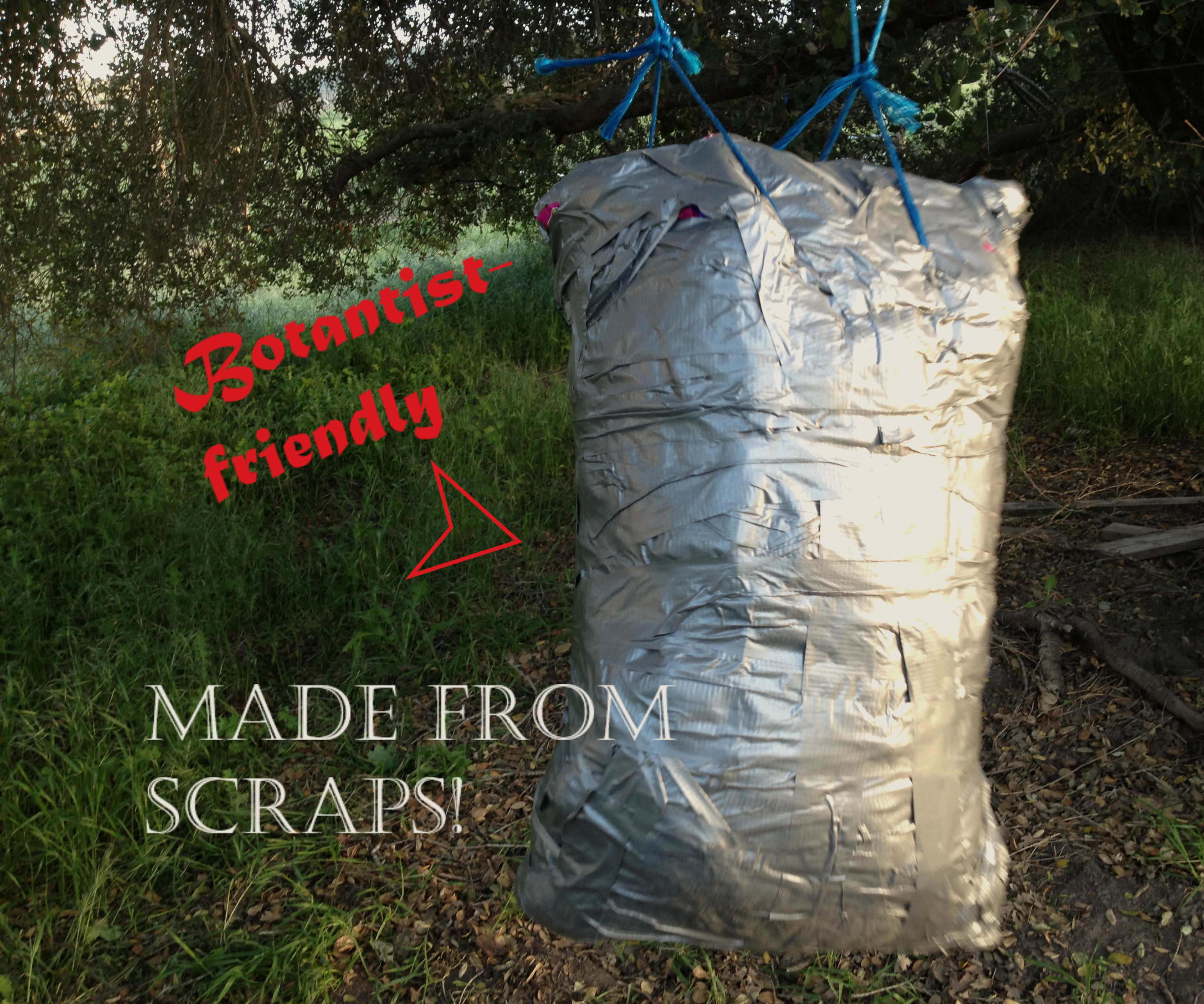 Punching Bag From Complete Trash (Weeds and Feed Bags).