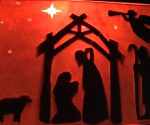 Manger Scene Table Lamp As Christmas Decor