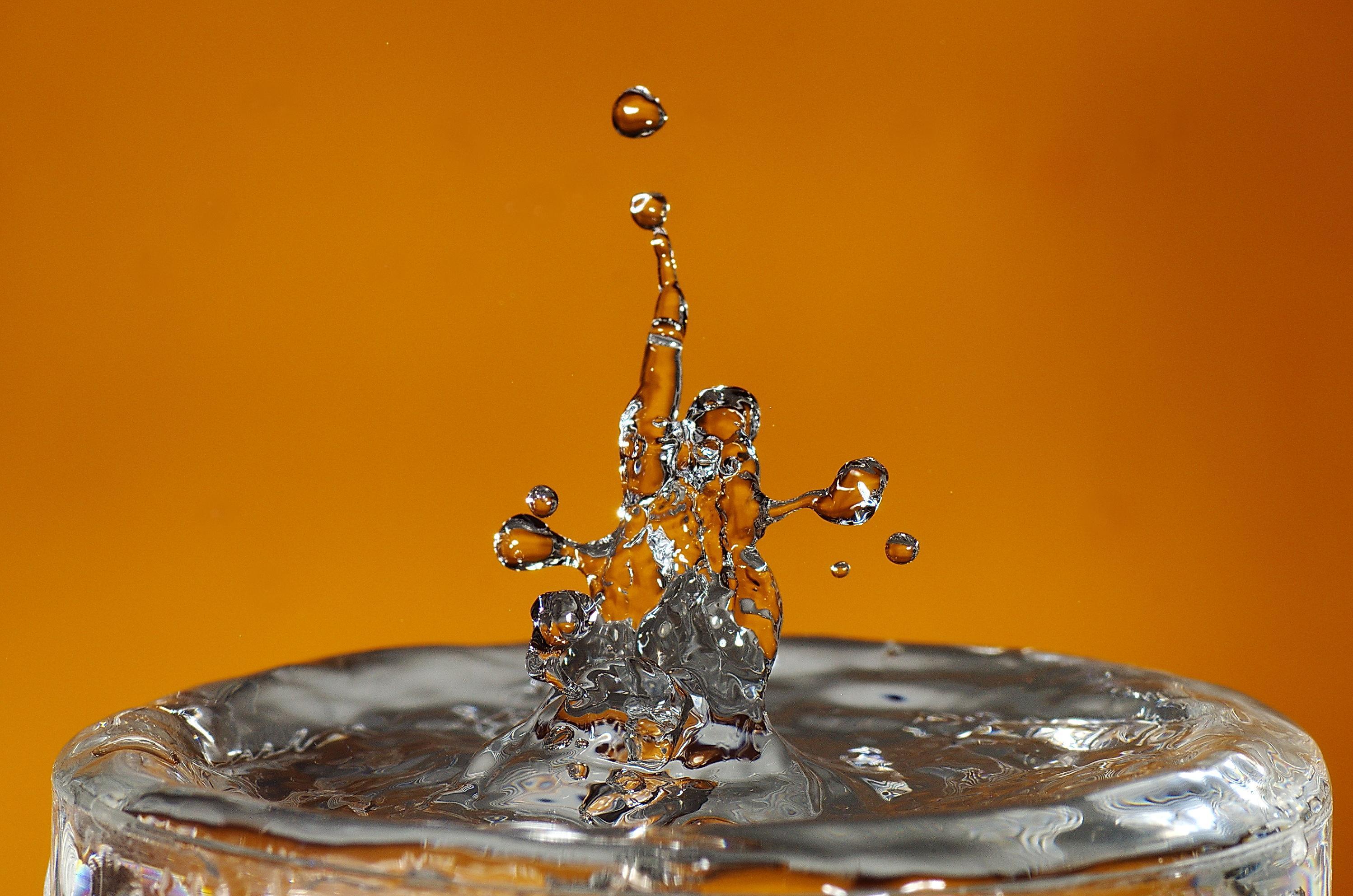 фотография капли воды