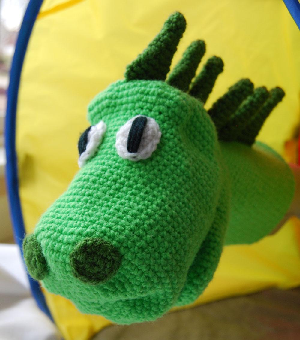 Crochet a Cute Dinosaur Puppet