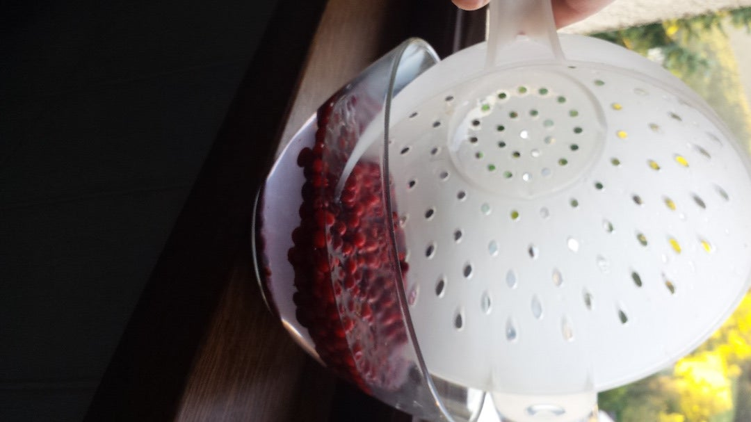 Use a Colander to Carefully Collect the Good Ones