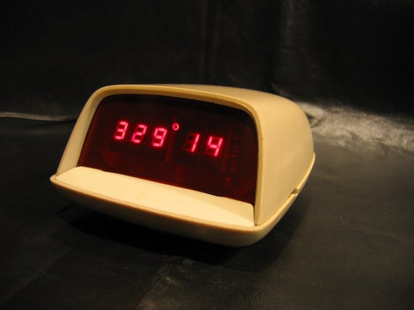 New Earth Time (NET) Digital Clock in Recycled Retro-modern Case