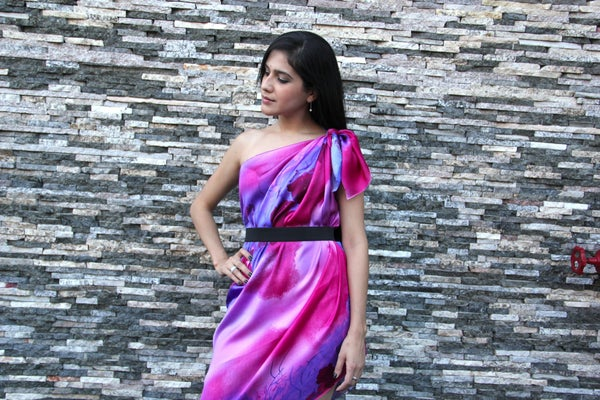 How to Make a One Shoulder Dress in 2 Minutes