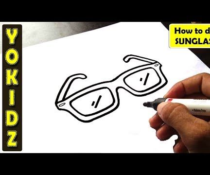 HOW TO DRAW SUNGLASSES EASY
