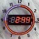 7-Segment NeoPixel Clock With Countdown Timer