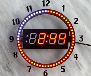 7-Segment NeoPixel Clock With Countdown Timer