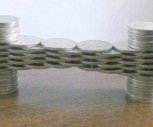 Coin Stacking - 3 Coin Span Bridge and More
