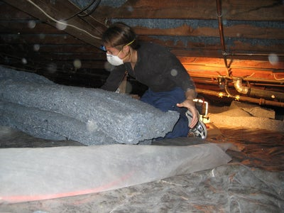 Drag the Insulation Under the House