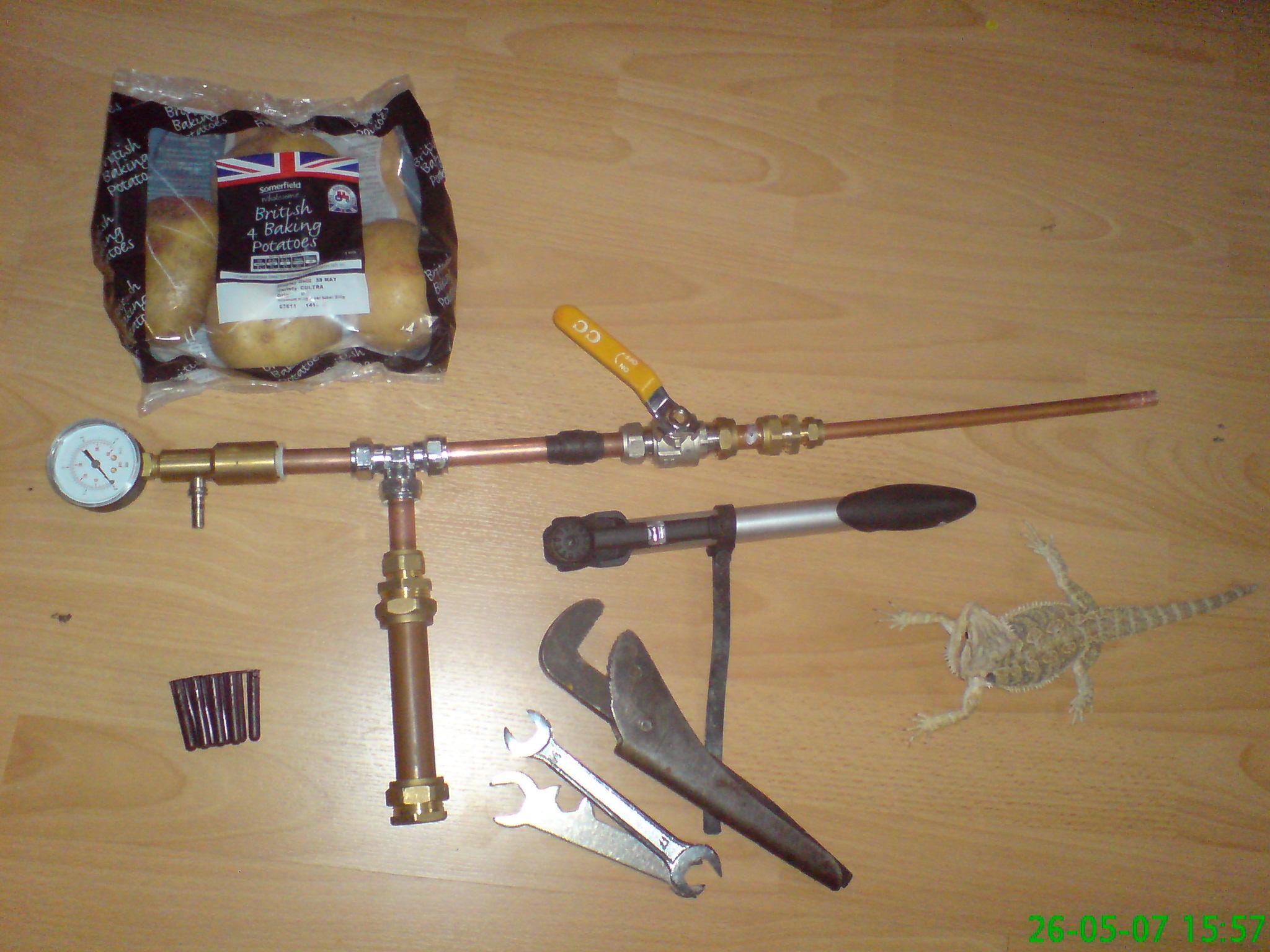 how to make my pneumatic gun