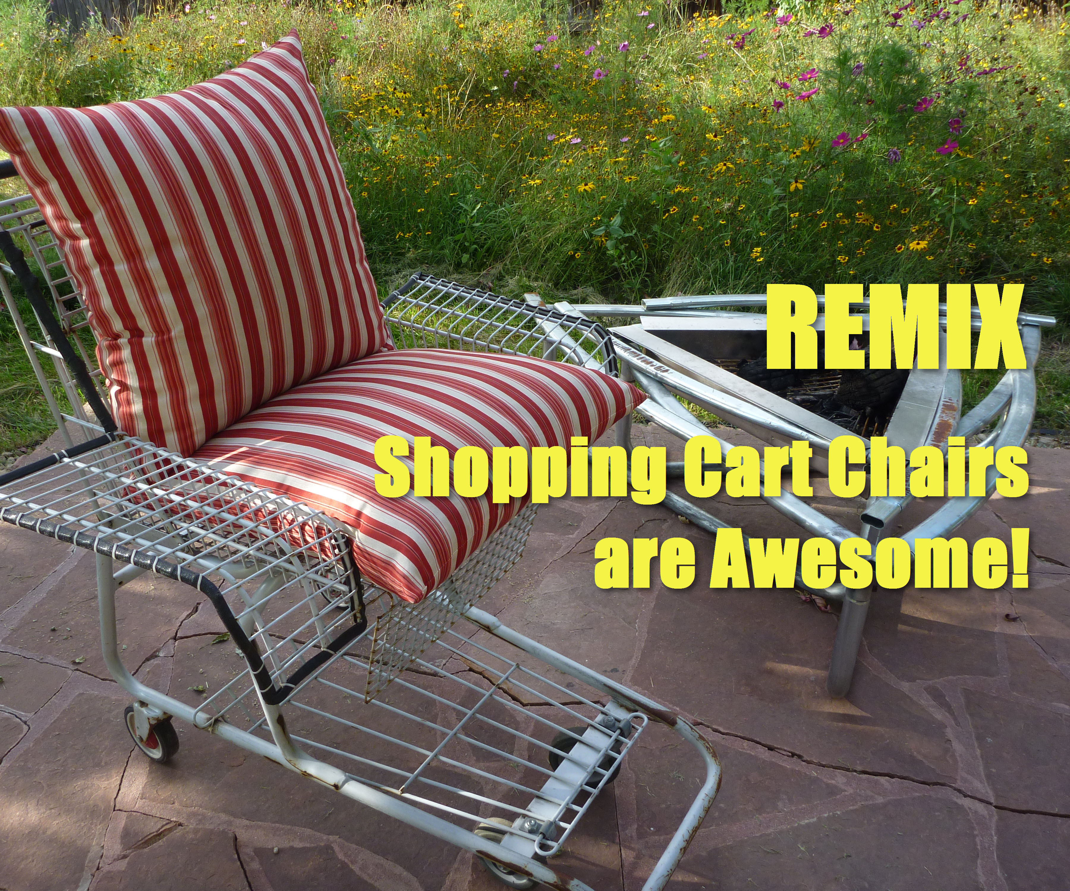 REMIX - Shopping Cart Chairs are Awesome!