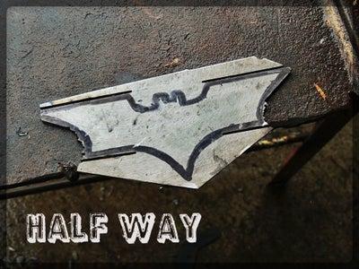 Cutting the Batarang Out.