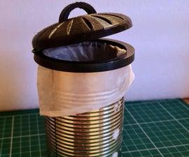 Desktop Tin Can Trashcan