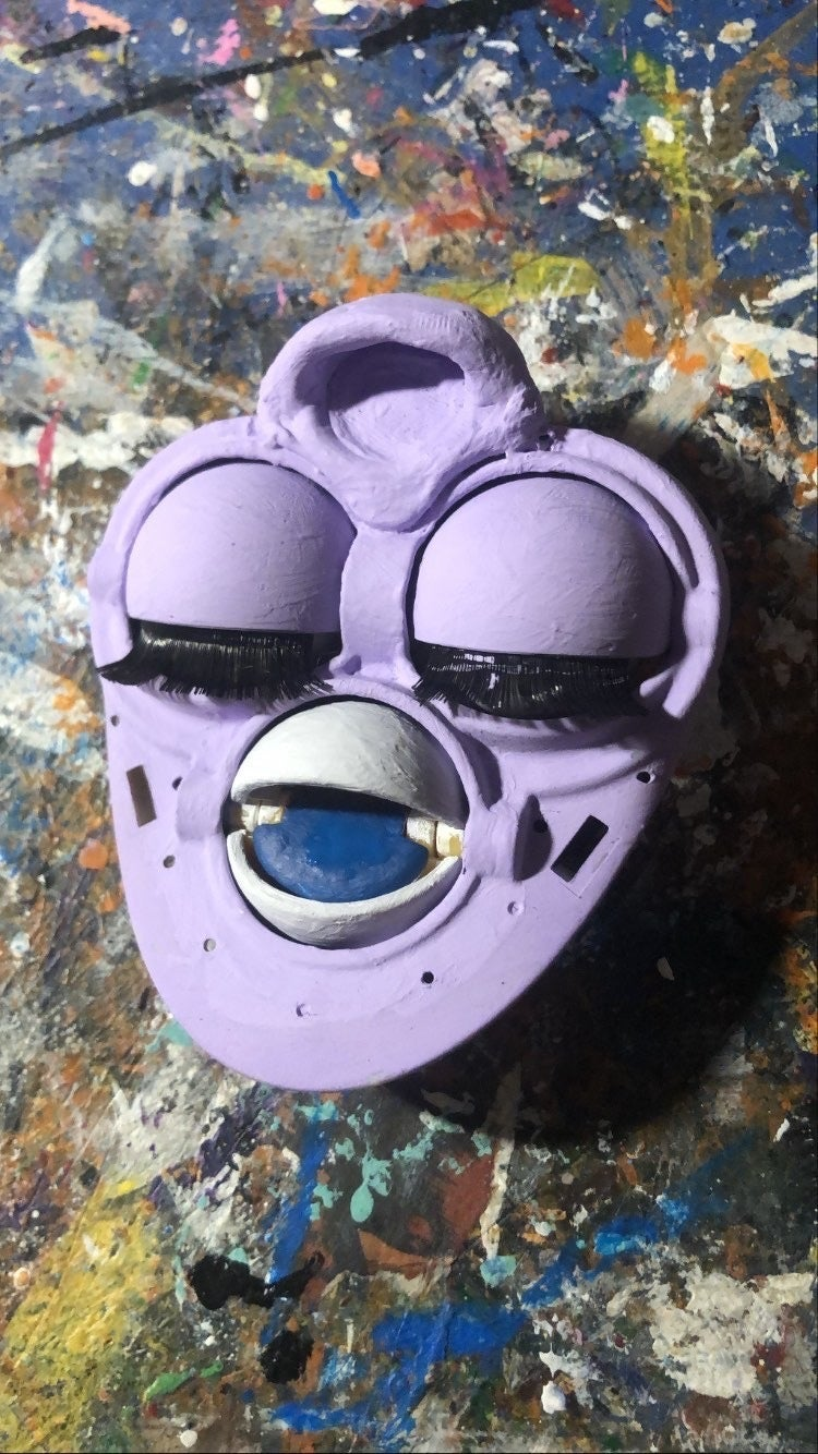 Painting the Face Plate and Eye Chips
