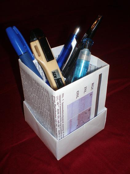 Paper Brush Pot