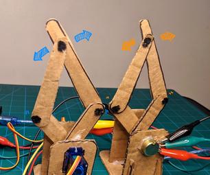 Leader-Follower Robot Legs