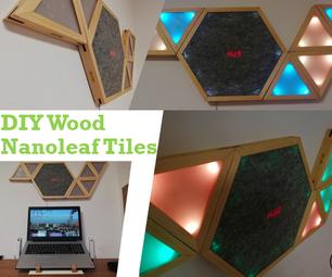 DIY Wood Nanoleaf Tiles