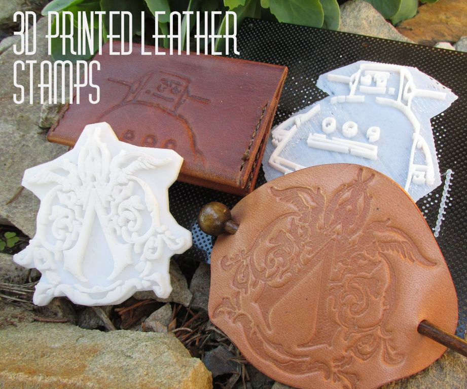 How to Design, Print, and Use 3D Printed Leather Stamps!