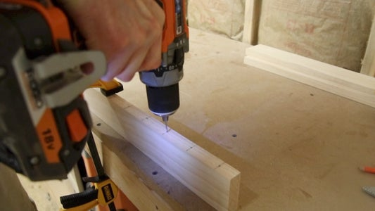 Mark and Drill the Holes for the Hooks