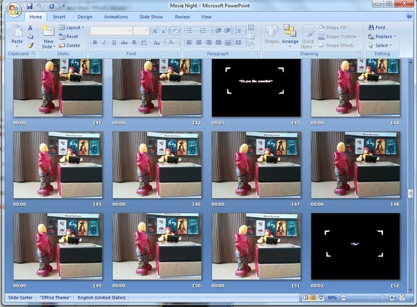 Making a Stop-Motion Silent Film Using Powerpoint