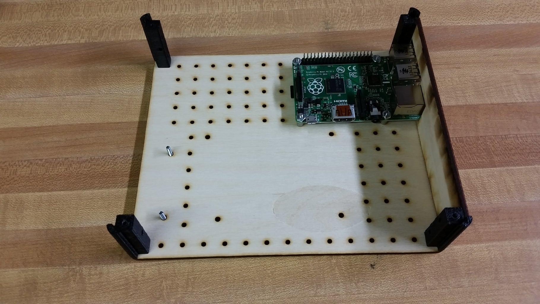 Attach the LCD Button Board