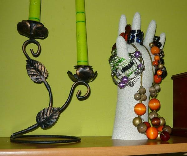 Handle (hand) Jewelery Made of Gypsum (plaster)