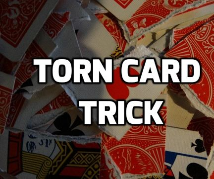 how to do crazy magic trick with torn cards!