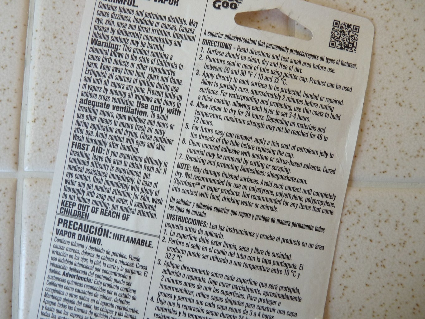 Read Your Glue Instructions and Warnings Before Beginning to Glue.