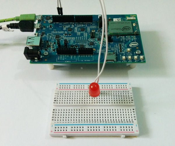 Getting Started With Edison - Blinking an LED From the Console