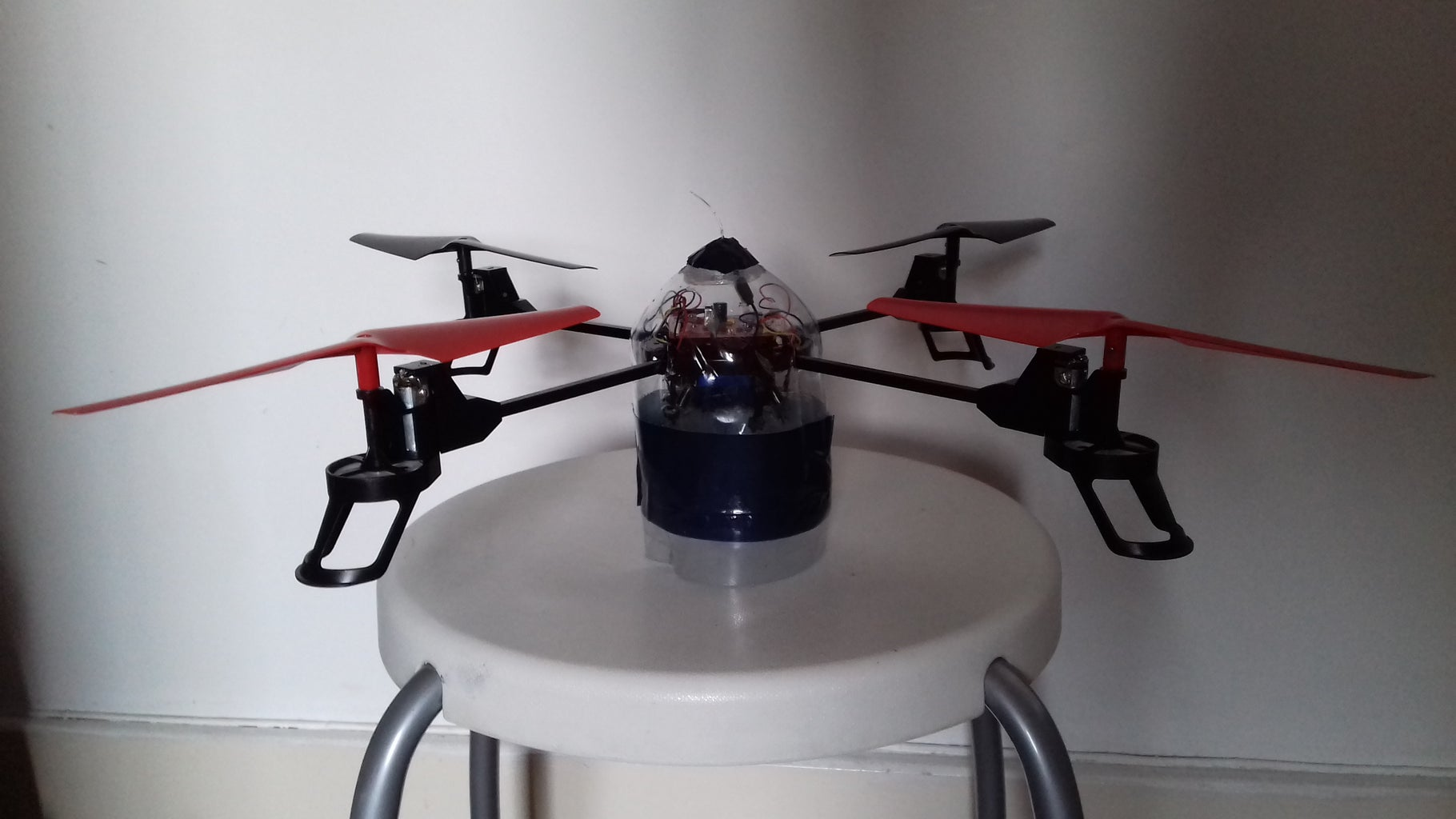 Fitting the Quadcopter Inside the Water Bottle.