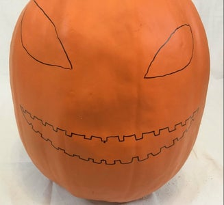 Carving Foam Pumpkins - Finding Your Face