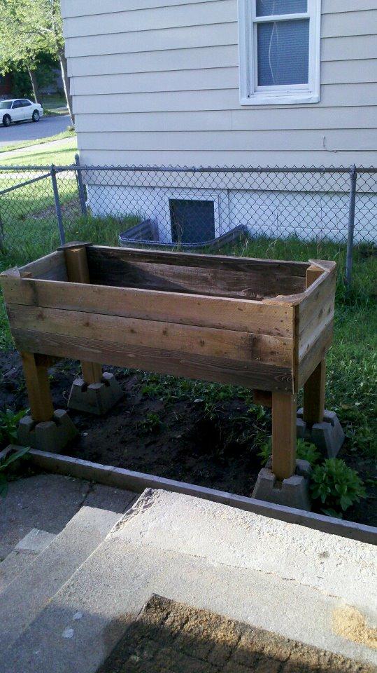 Raised Herb Garden with Repurposed Materials