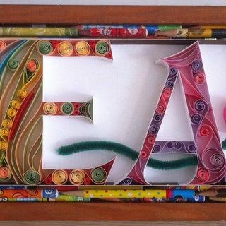 Framed Paper Quilling Letter S