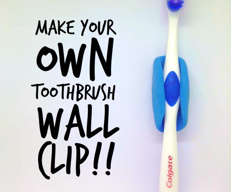 Toothbrush Wall Holder - Using Oogoo!